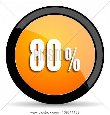80 percent orange icon