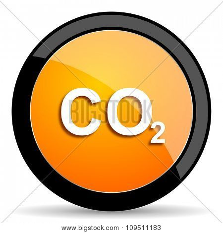 carbon dioxide orange icon