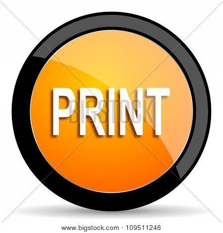 print orange icon