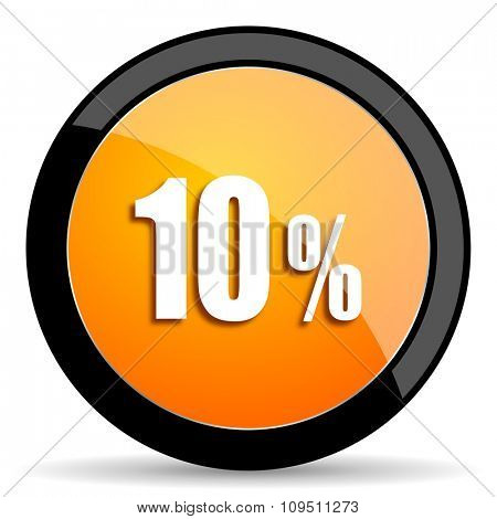 10 percent orange icon