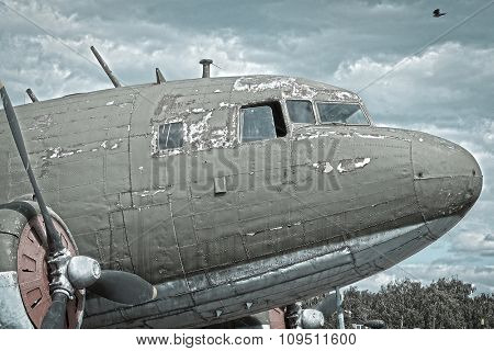 The image of a passenger plane isolated on the white background