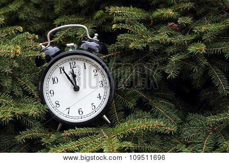 Christmas. Vintage Alarm Clock