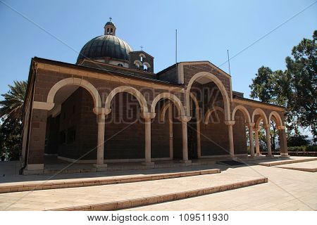 Church Of The Beatitudes On The Mount Of The Beatitudes, Israel,