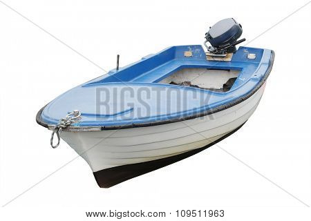 The image of an isolated boat