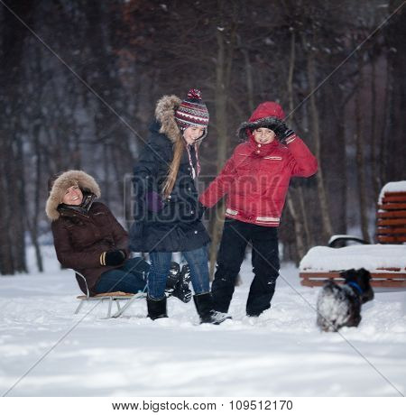 Family Snow Fun