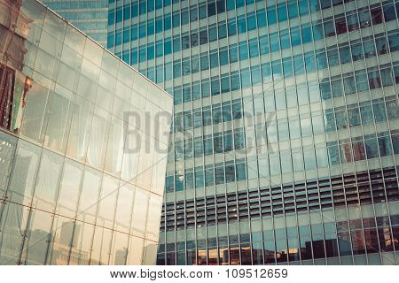 Modern skyscraper business office, corporate building abstract.