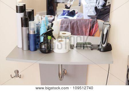 Interior of  simple beauty salon