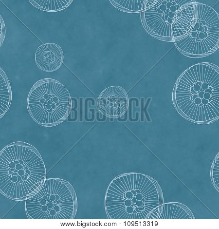 An abstract blue seamless background graphic