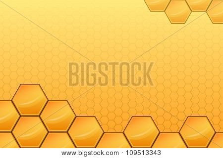 Yellow honey abstract background