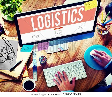 Logistics Freight Transportation Shipping Business Concept