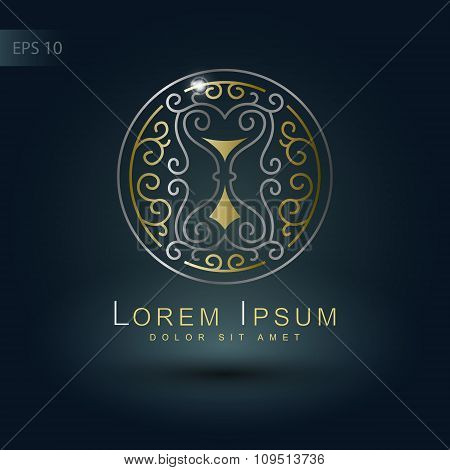 Design Element With Hourglass