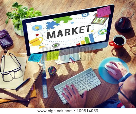 Market Plans Advertising Ideas Global Success Branding Concept