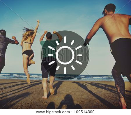 Beach Holiday Vacation Leisure Summer Tourism Concept