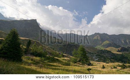 Mountain Landscape In Alps