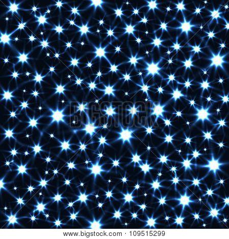 Sparkling Stars in Dark Vector Background.