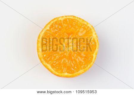 Mandarine Cut In Half