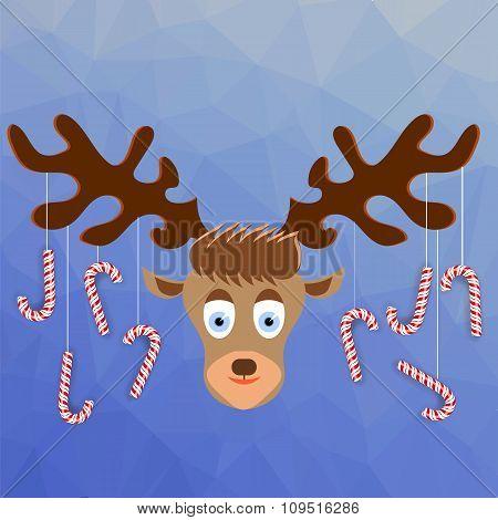 Cute Cartoon Deer