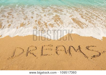 Dreams Message On The Sand