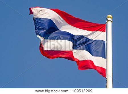Thailand flag blows in the wind