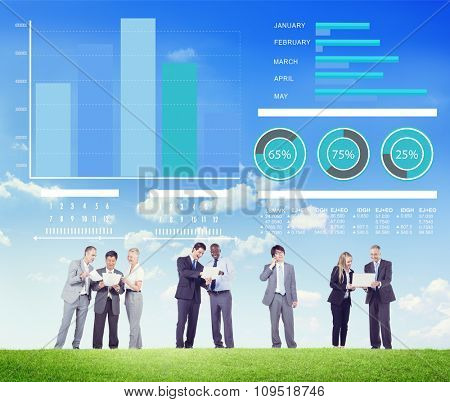 Business People Strategy Growth Discussion Working Concept