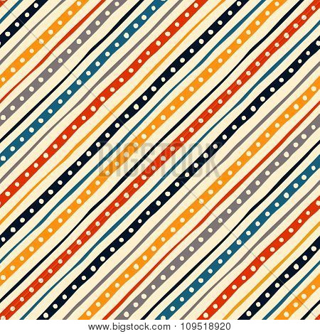 Colorful striped seamless pattern.