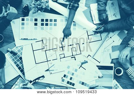Design Creativity Color Swatch Ideas Writing Working Concept