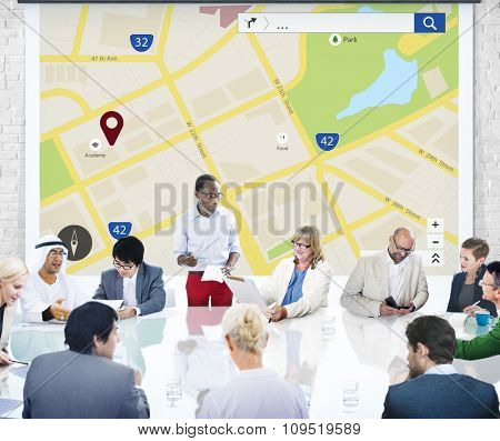 Map Mapping Location Guideline Navigation Concept