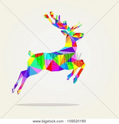 Christmas multicolored deer