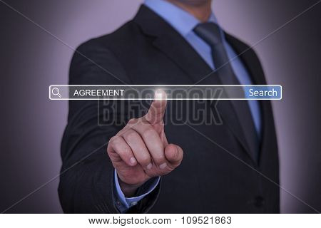 Business Agreement Concept on Touch Screen