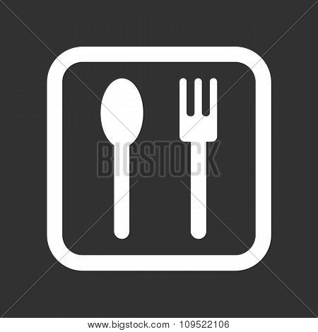 Spoon and fork icon