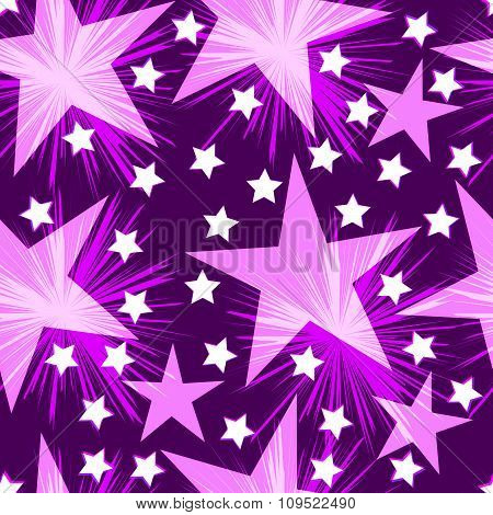 Seamless festive wrapper. Seamless stars