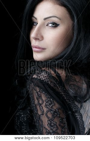 Portrait Of A Glamorous Girl With Clean Skin. Fashion Art Photo