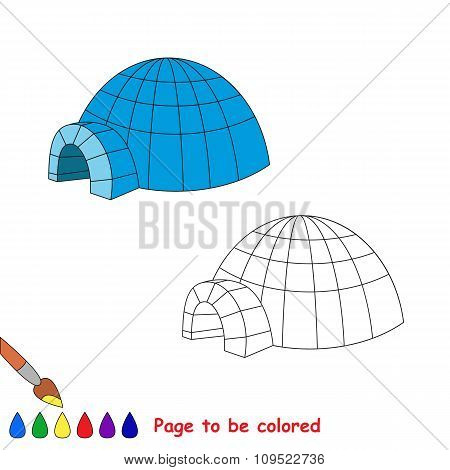 Igloo vector cartoon to be colored.