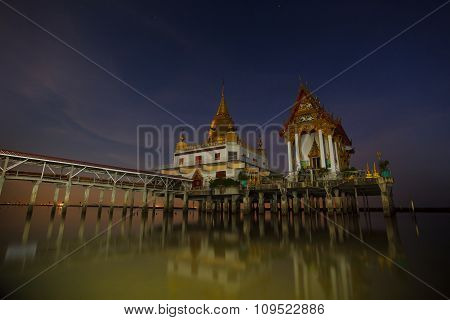 Wat Hongtong Temple Important Landmark And Traveling Destination In Samuthaprakarn Pr
