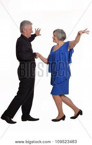 Elegant elderly couple