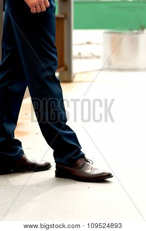 Feet Man In Shoes