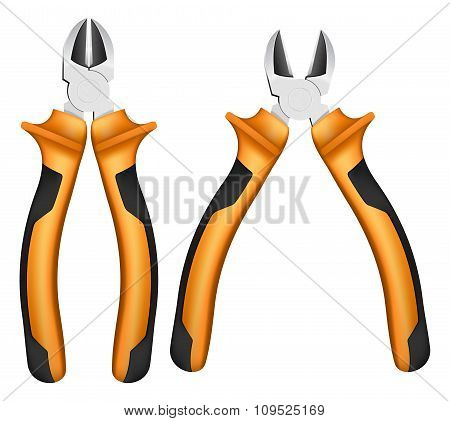 nippers with orange handles