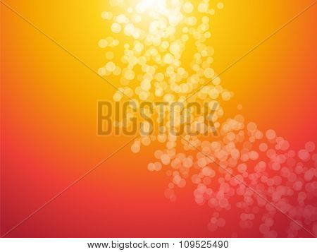 Orange Background With Bright Dots