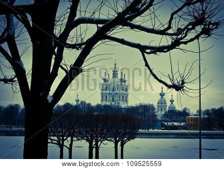 The Smolny Cathedral. Saint-Petersburg. Russia