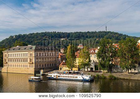 View Of The Prague River Vltava
