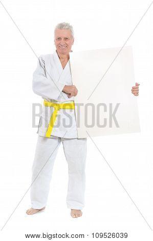 Karate Senior man