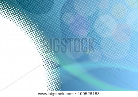 Abstract background gradient blue lines circles vector