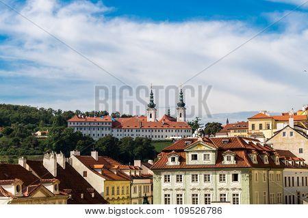 Skyline Of Prague Strahov Monastery
