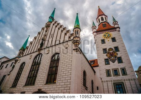 Old Town Hall Tower in Munich, Germany.