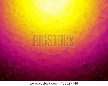 Orange Violet Triangular Background