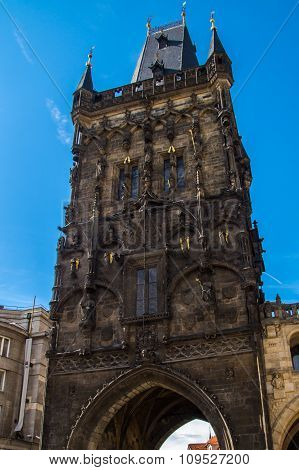 The Gothic Powder Tower In The Old Town