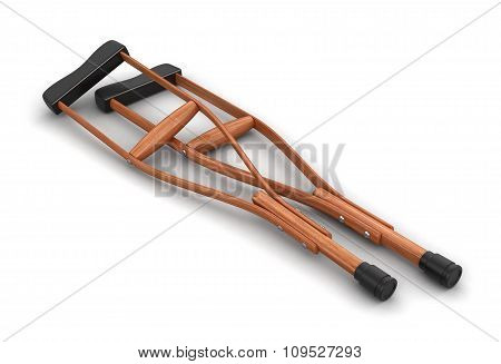 Crutches (clipping path included)