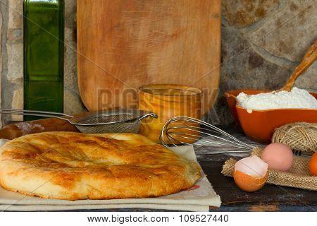 Italian bread focaccia