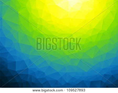 Abstract Yellow Green Blue Background