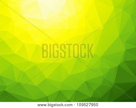 Yellow Green Bio Background